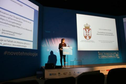 Speaker at the New Technologies in Education conference
