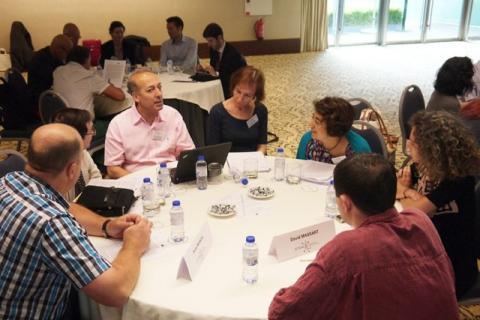 Project experts discussing at the Guidelines Development Workshop